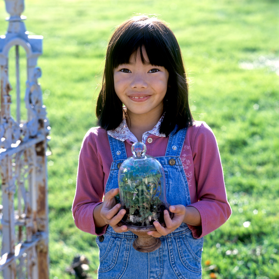 Vietnamese Girl with Terrarium